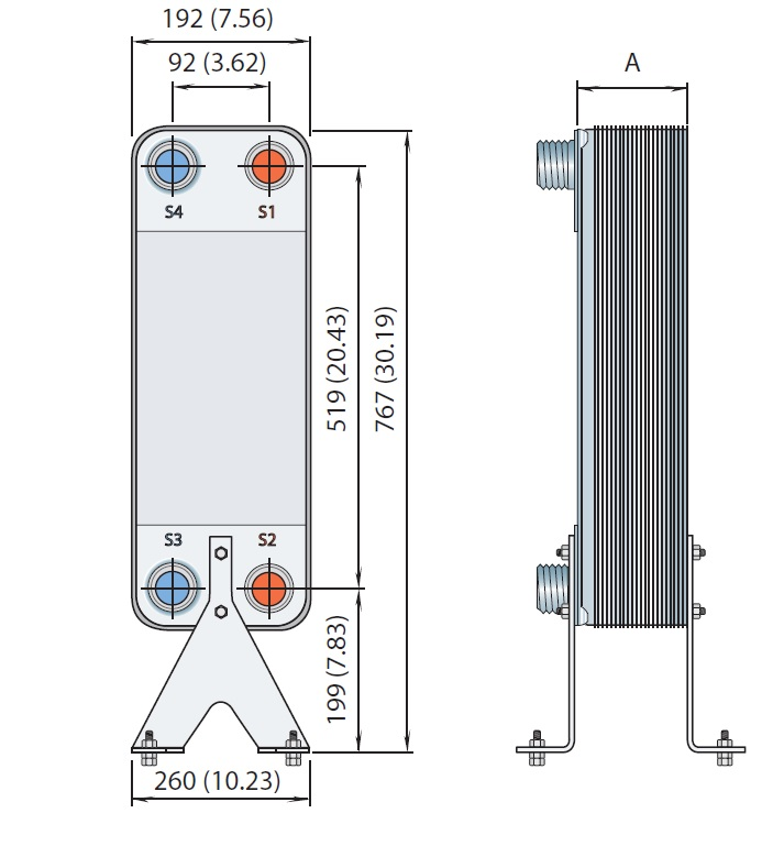 Кожухотрубный конденсатор Alfa Laval CDEW-260 T Северск Кожухотрубный испаритель WTK DFE 255 Железногорск